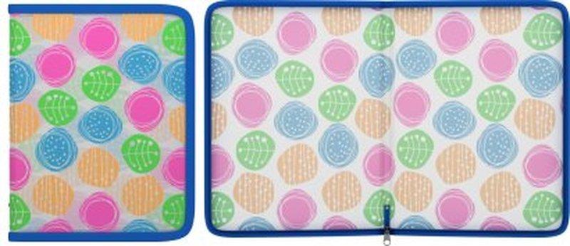Папка для тетрадей на молнии пластиковая  ErichKrause® Buttons, A5+ 45352, 47091, 50362