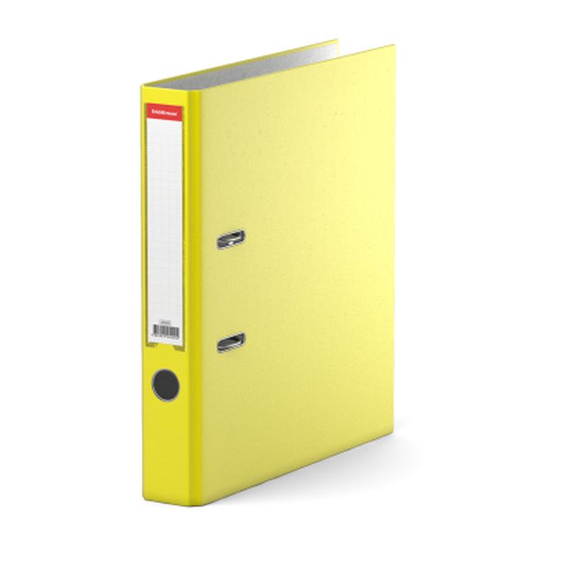 Папка–регистратор с арочным механизмом разборная ErichKrause®, Neon, А4, 50 мм, желтый 45402