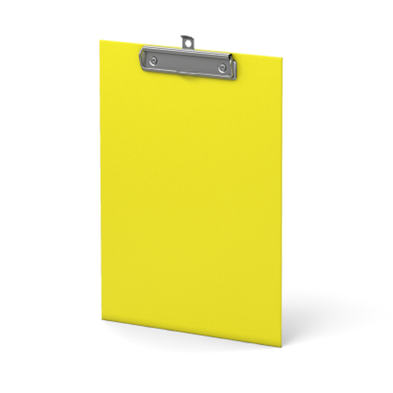 Планшет с зажимом ErichKrause® Neon, А4, желтый 45410
