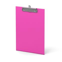 Планшет с зажимом ErichKrause®, Neon, А4, розовый 45411