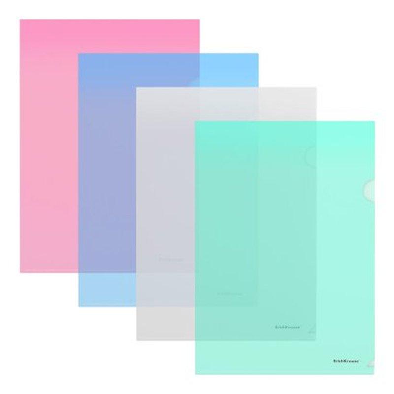 Папка-уголок пластиковая  ErichKrause® Glossy Classic, A4, ассорти 45412