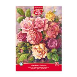 Альбом для рисования с бумагой для акварели на клею ArtBerry® Розы, А4, 20 листов 45439