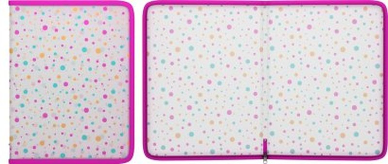 Папка на молнии пластиковая ErichKrause® Dots, A4 45461, 47106