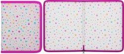 Папка на молнии пластиковая ErichKrause® Dots, A5+ 45462, 47107