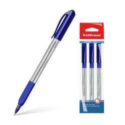 Ручка шариковая ErichKrause® U-19, Ultra Glide Technology, цвет  чернил синий (в пакете по 3 шт.) 45466