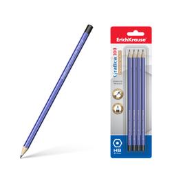 Чернографитный шестигранный карандаш ErichKrause® Grafica 100 HB (в блистере по 4шт.) 45484