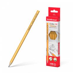 Чернографитный шестигранный карандаш ErichKrause® Amber 100 HB 45598