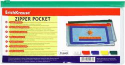 ZIP-пакет пластиковый ErichKrause® PVC Zip Pocket, Travel255*128*0,14, прозрачный 4563