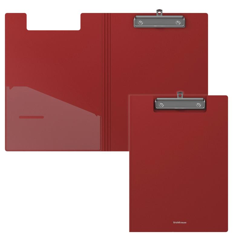Папка-планшет пластиковая ErichKrause® Classic, A4, красный 45984