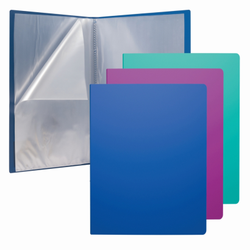 Папка файловая пластиковая ErichKrause® Glance Vivid, c 10 карманами, A4, ассорти 46091