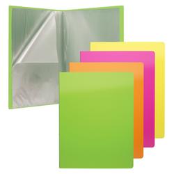 Папка файловая пластиковая ErichKrause® Glance Neon, c 10 карманами, A4, ассорти 46102
