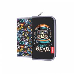 Пенал-книжка без наполнения ErichKrause® 110x205x25мм Space Bear 46224