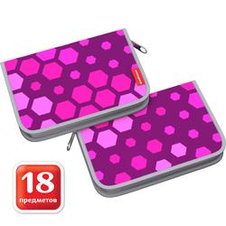 Пенал-книжка c наполнением ErichKrause® 135x205x30мм Pink Camo 46278