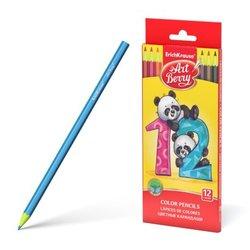 Пластиковые цветные карандаши шестигранные ArtBerry® 12 цветов 46428