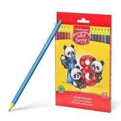 Пластиковые цветные карандаши шестигранные ArtBerry® 18 цветов 46429