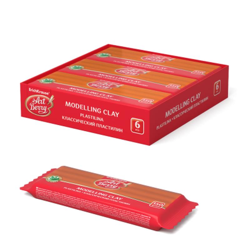 Классический пластилин ArtBerry® с Алоэ Вера 150г оранжевый 46455