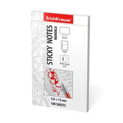 Бумага для заметок с клеевым краем ErichKrause® Mandala, 125х75 мм, 100 листов, белый 46514
