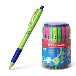 Ручка шариковая автоматическая ErichKrause® JOY® Neon, Ultra Glide Technology, цвет  чернил синий 46524