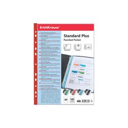 Набор перфофайлов пластиковых ErichKrause® Fizzy Clear, 40 мкм, A4, прозрачный, с красной полосой (в пакете по 10 шт.) 46707