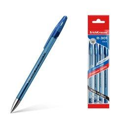 Ручка гелевая ErichKrause® R-301 Original Gel Stick 0.5, цвет чернил синий (в пакете по 4 шт.) 46789