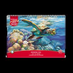 Альбом для рисования на спирали ArtBerry® Черепаха, А4, 20 листов, микроперфорация, спираль по широкой стороне 46897