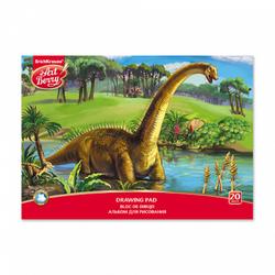 Альбом для рисования на клею ArtBerry® Эра динозавров, А4, 20 листов 46899