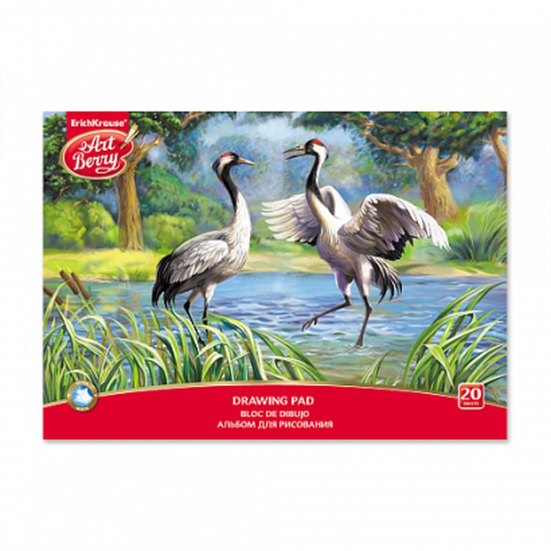 Альбом для рисования на клею ArtBerry® Экзотические птицы, А4, 20 листов 46901