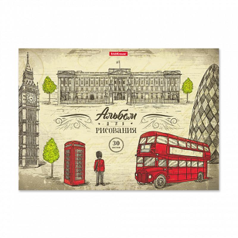 Альбом для рисования на клею ErichKrause® Great Britain, А4, 30 листов 46913