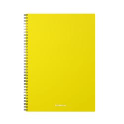 Тетрадь общая с пластиковой обложкой на спирали ErichKrause® Classic, желтый, А4, 60 листов, клетка 46941