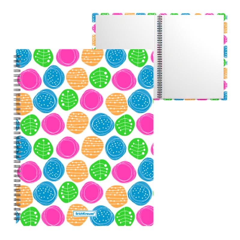 Папка файловая пластиковая на спирали ErichKrause® Buttons, с 20 прозрачными карманами, A4 46998