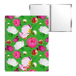 Папка файловая пластиковая на спирали ErichKrause®  Peonies, c 20 карманами, A4 47000