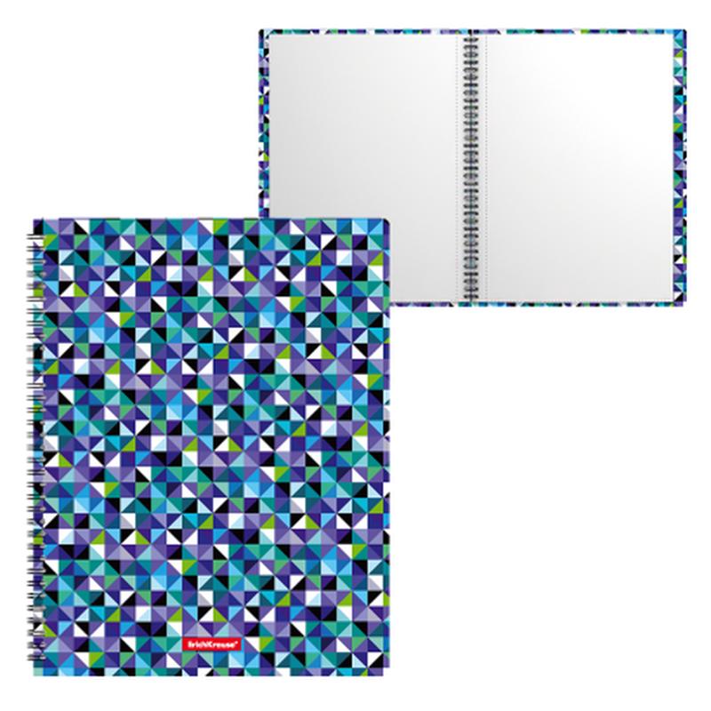 Папка файловая пластиковая на спирали ErichKrause® Cubes, с 20 прозрачными карманами, A4 47004