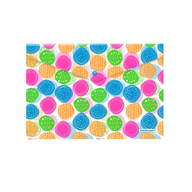 Папка-конверт на кнопке пластиковая  ErichKrause® Buttons, A4 47058