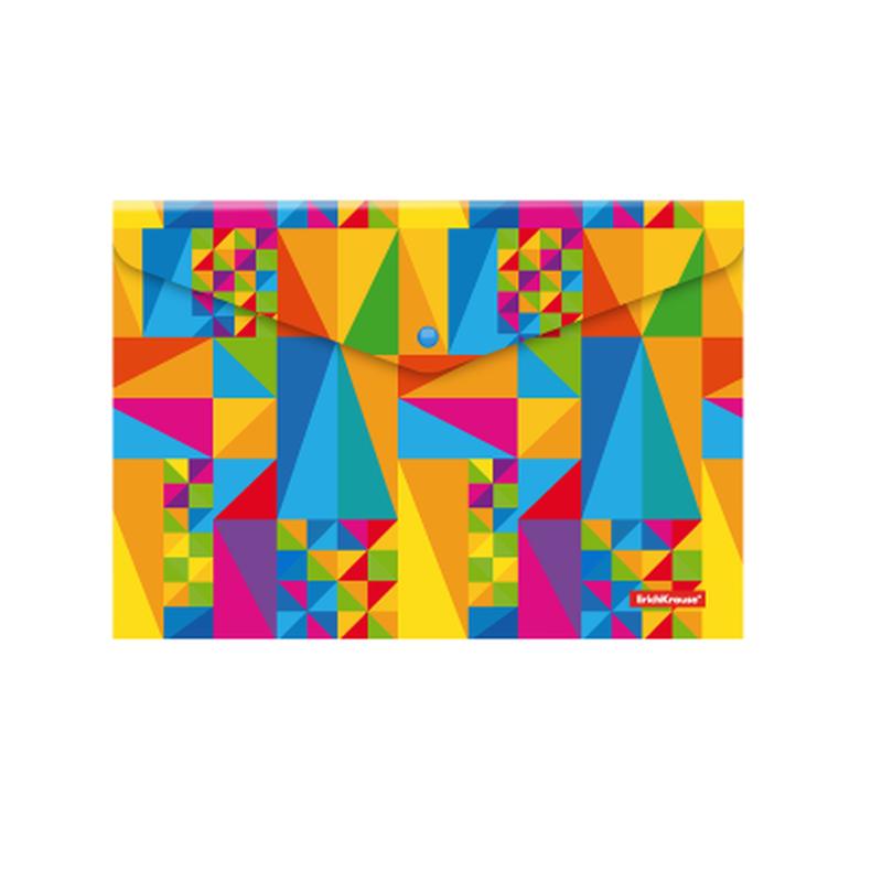 Папка-конверт на кнопке пластиковая  ErichKrause® Arlecchino, A4 47059