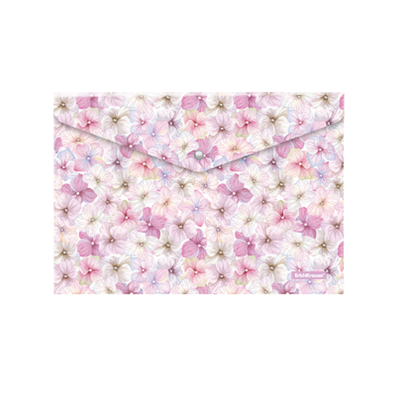 Папка-конверт на кнопке пластиковая  ErichKrause® Phloxes, A4 47060