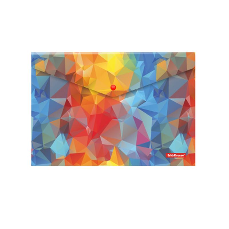 Папка-конверт на кнопке пластиковая  ErichKrause® Dynamique, A4 47063
