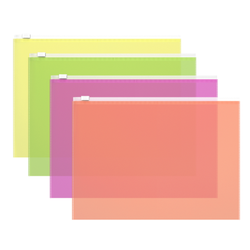 ZIP-пакет пластиковый ErichKrause® Fizzy Neon, B5 289*214*0,14, ассорти 47073