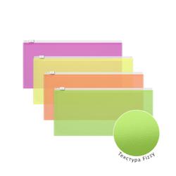 ZIP-пакет пластиковый ErichKrause® Fizzy Neon, Travel 255*130*0,14, ассорти 47076