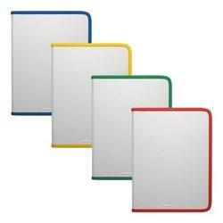 Папка на молнии пластиковая  ErichKrause® Glance Clear, A5+, ассорти 47079