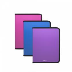 Папка на молнии пластиковая ErichKrause® Glance Vivid, A5+, ассорти 47086