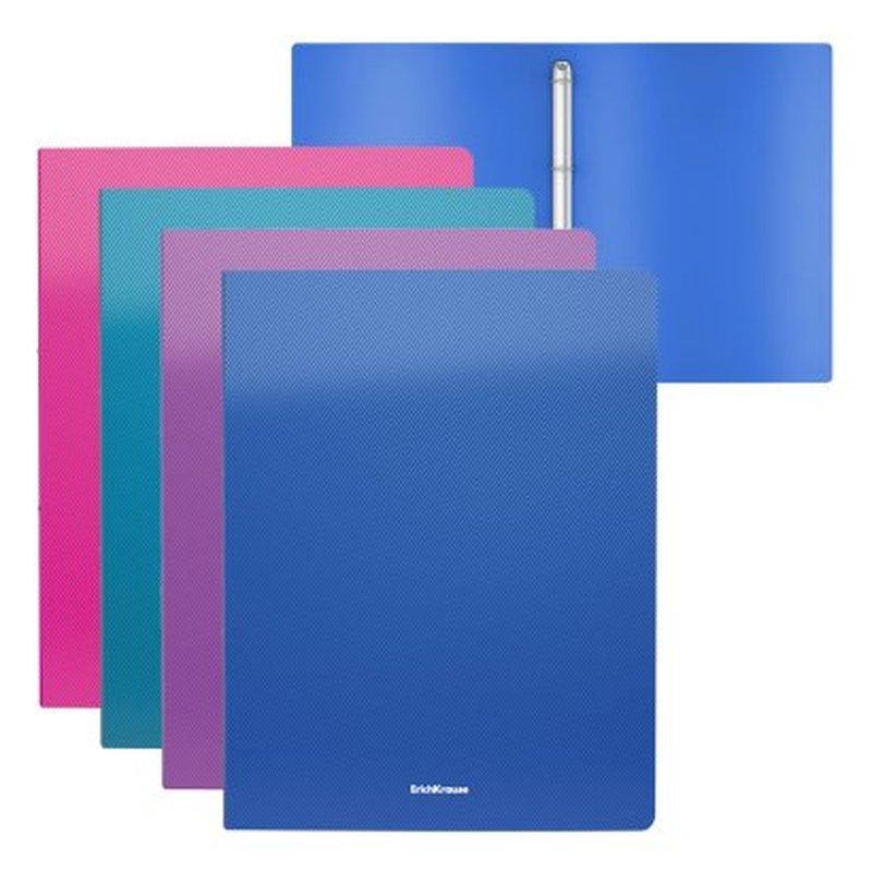 Папка на 4 кольцах пластиковая  ErichKrause® Diagonal Vivid, 35мм, A4, ассорти 47136