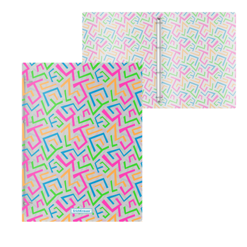 Папка на 4 кольцах пластиковая  ErichKrause® Lines, 24мм, A4 47146