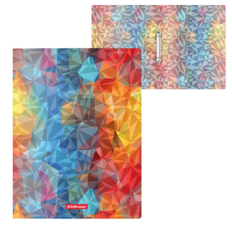 Папка на 2 кольцах пластиковая  ErichKrause® Dynamique, 24мм, A4 45380, 47160