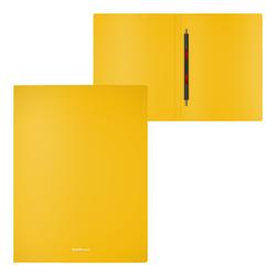 Папка-скоросшиватель пластиковая ErichKrause® Classic, с пружинным механизмом, A4, желтый 47171