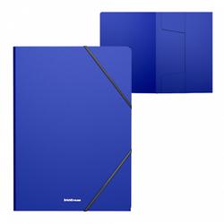 Папка на резинках пластиковая  ErichKrause® Classic, A4, синий 47190