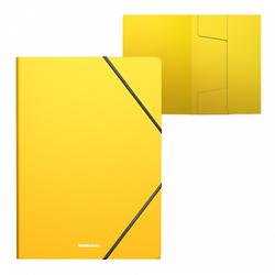 Папка на резинках пластиковая  ErichKrause® Classic, A4, желтый 47193