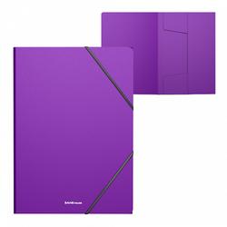 Папка на резинках пластиковая  ErichKrause® Classic, A4, фиолетовый 47194