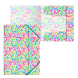 Папка на резинках пластиковая  ErichKrause® Lines, A4 47201