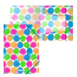 Папка на резинках пластиковая  ErichKrause® Buttons, A4 45346, 47203