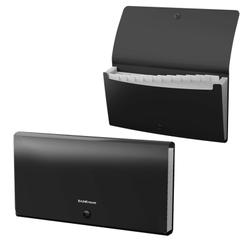 Папка-картотека пластиковая  ErichKrause® Matt Classic, с 12 отделениями, Check size, черный 47236